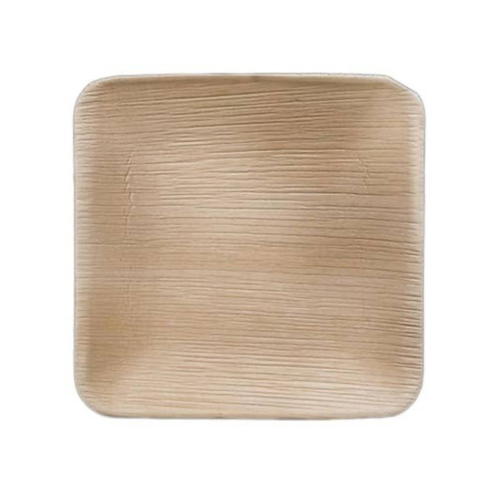 "Eco Friendly Areca Leaf 6"" Square Plate"