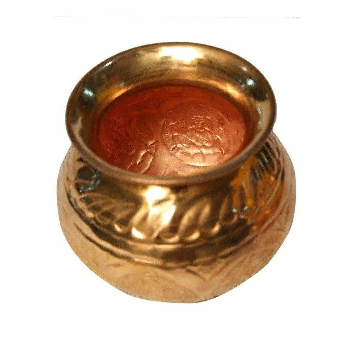 Pooja-8 Faces Globular Lakshmi Kalash (Small size) / Ashtalakshmi Kalasam (Small Size)
