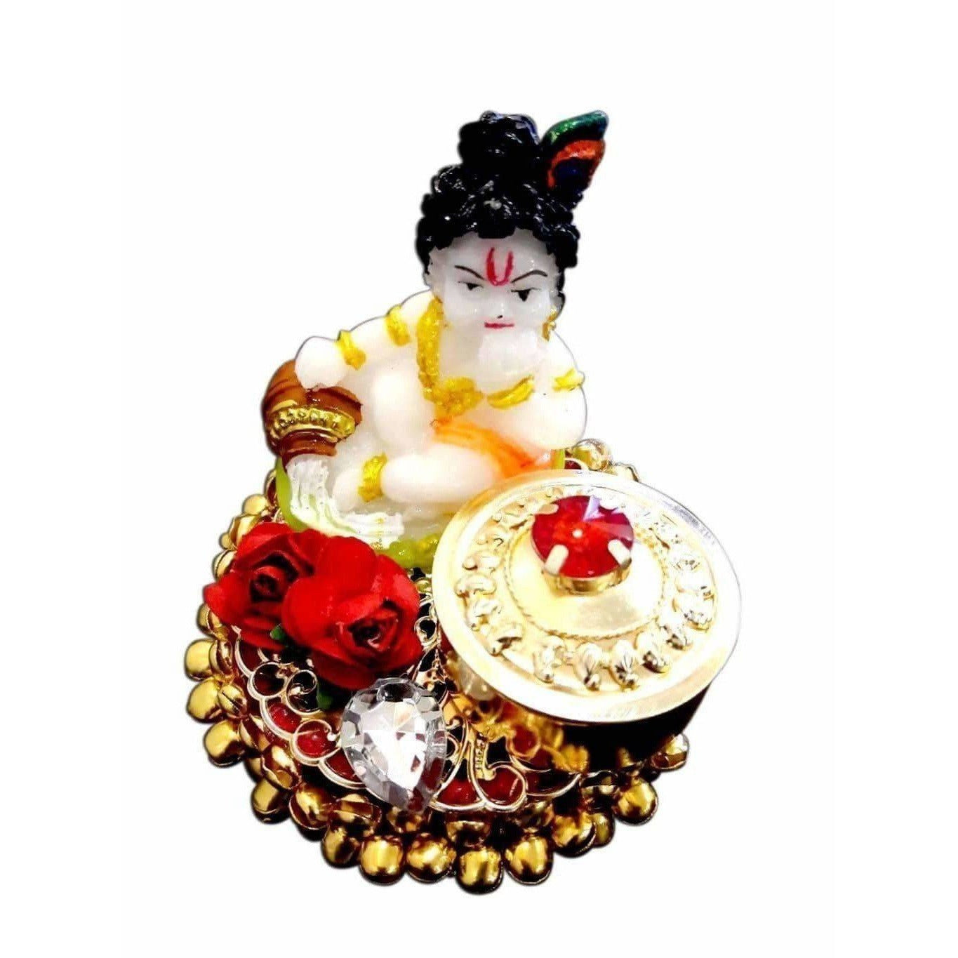 Decorative Little Krishna Kumkum Holder - Dista Cart