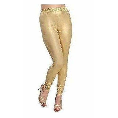 Women's Viscose Light Gold Solid Leggings for All Plus Size and Small Size