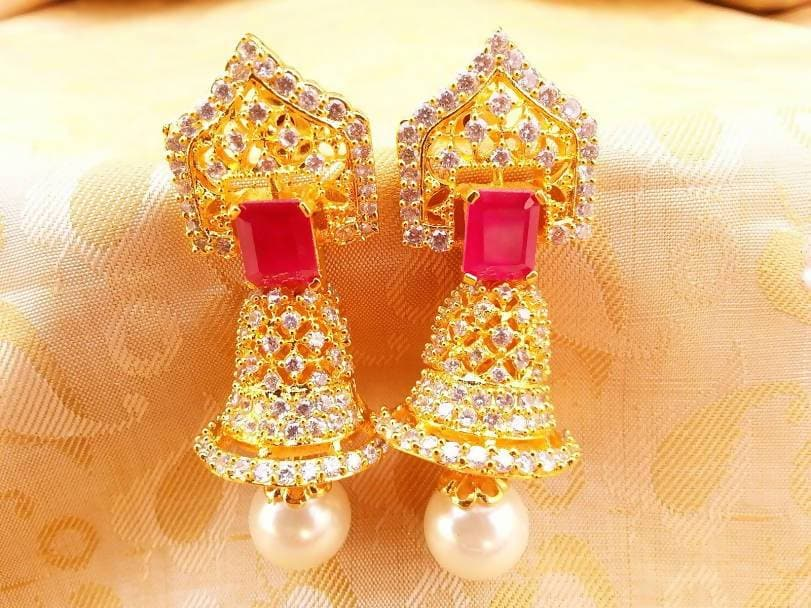 Ad Ruby Bell Type Jhumkas