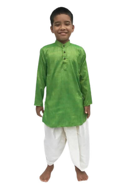 Byogi Silk - Green Colored Boys Kurta - Distacart