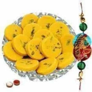 Rakshabandhan Fancy Rakhi with Kesar Peda Sweet