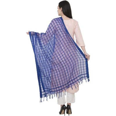A R Silk Cotton square Regular Dupatta Color Royal Dupatta or Chunni