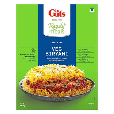 Gits Ready Meals Heat & Eat Veg Biryani - Distacart