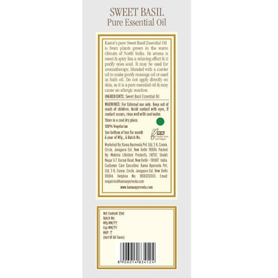 Kama Ayurveda Sweet Basil Essential Oil