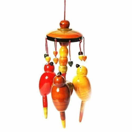 Etikoppaka handmade Wooden Colorful Wall Hanging With Parrots - Dista Cart
