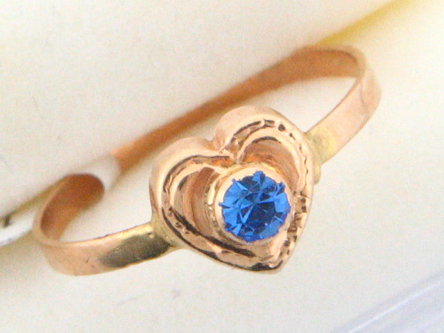 1024 - 19.2k Portuguese Gold Heart Shape Kids Ring - Columbia Jewelers, Fall River, Massachusetts, USA
