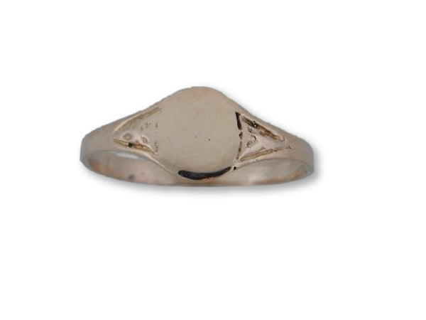 19.2k Portuguese Gold ID Kids Ring