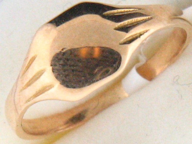 1185 - 19.2k Portuguese Gold Baby ID Ring - Columbia Jewelers, Fall River, Massachusetts, USA