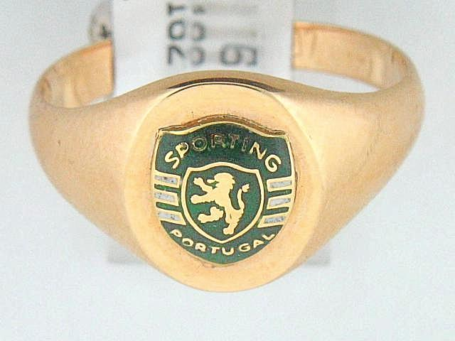 19.2k Portuguese Gold Solid Sport Ring (Oval Table)