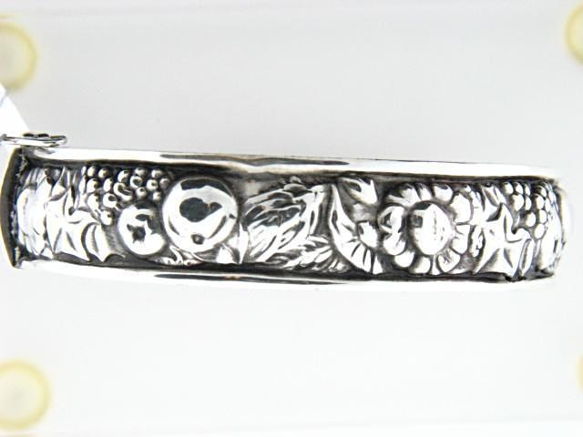 "Sterling Silver ""4 Seasons"" Bangle (12.5mm width)"