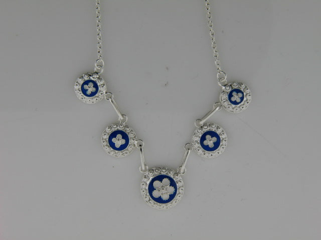 3431 - Sterling Silver Portuguese Traditional Enamel Necklace - Columbia Jewelers, Fall River, Massachusetts, USA