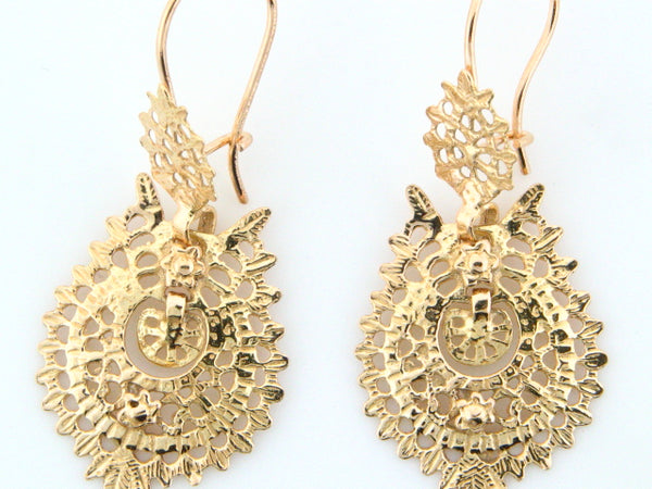 "19.2Kt Portuguese Gold ""Queen"" Earrings"