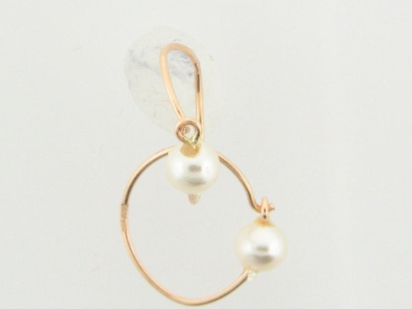 4598 - 19.2k Portuguese Gold Pearl Kids Earrings - Columbia Jewelers, Fall River, Massachusetts, USA