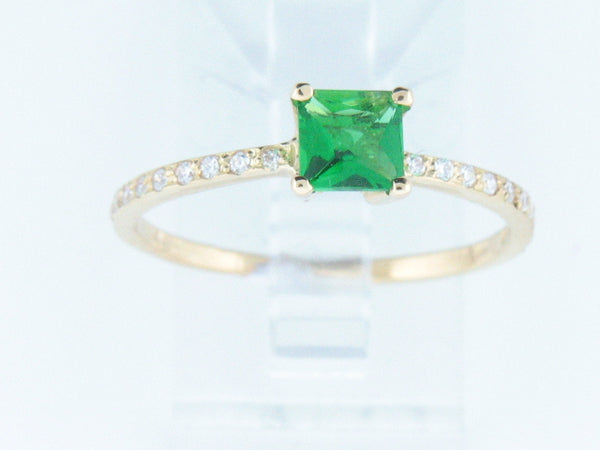 19.2kt Portuguese Gold Ladies / Teenager Ring with Synthetic Stones