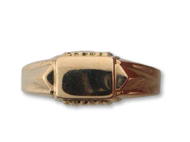 12205 - 19.2kt Portuguese Gold Teenager Ring - Columbia Jewelers, Fall River, Massachusetts, USA