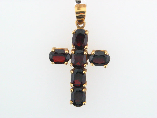 AS - 19.2K Portuguese Gold Cross With Stones - Columbia Jewelers, Fall River, Massachusetts, USA