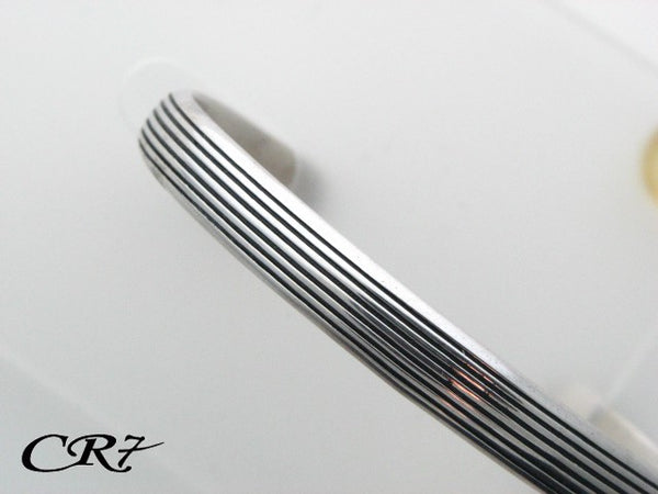 C03.011 - Sterling Silver CR7 Collection Men Solid Bangle Bracelet - Columbia Jewelers, Fall River, Massachusetts, USA