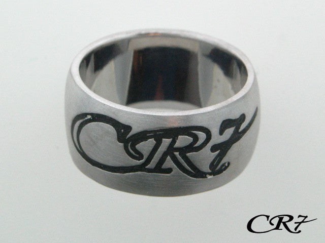 Sterling Silver CR7 Collection Solid Band Ring