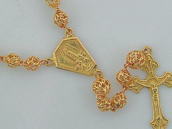 19.2kt Portuguese Gold Filigree Rosary