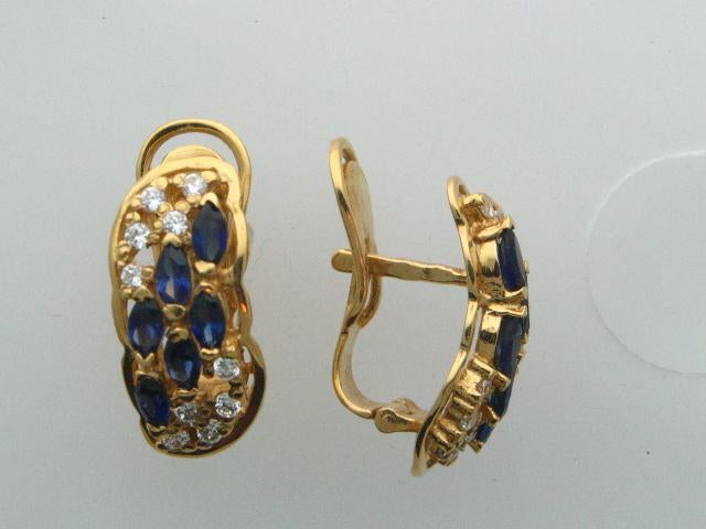 4593 - 19.2kt Portuguese Gold Earrings - Columbia Jewelers, Fall River, Massachusetts, USA
