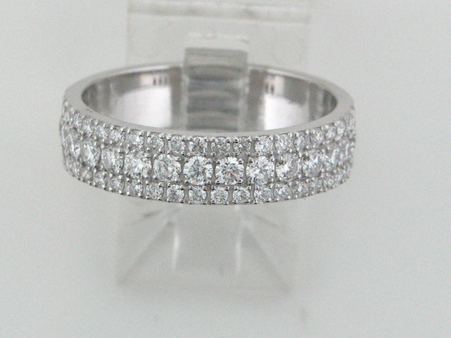 J17392A1 - 19.2kt White Portuguese Gold Band with Diamonds - Columbia Jewelers, Fall River, Massachusetts, USA