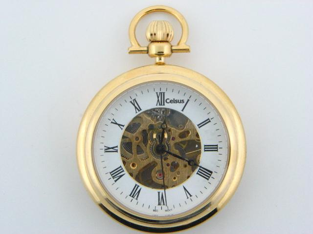 9037.1 - Celsus Winder Pocket Watch - Columbia Jewelers, Fall River, Massachusetts, USA