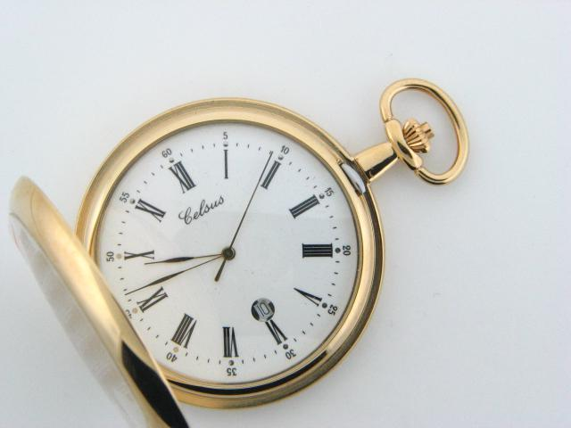 9022.2 - Celsus Quartz Pocket Watch with Lid - Columbia Jewelers, Fall River, Massachusetts, USA