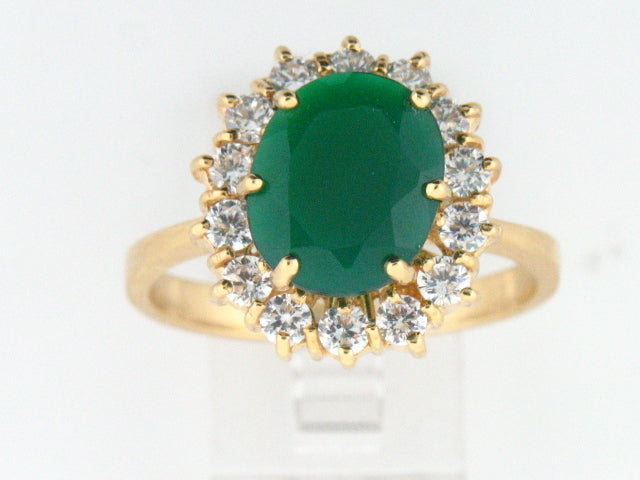 19.2kt Portuguese Gold Ladies Ring with Synthetic Stones