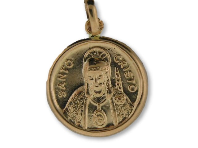 "1650/18 - 19.2k Portuguese Gold Round (18.0mm) ""Ecce Homo"" Medal - Columbia Jewelers, Fall River, Massachusetts, USA"