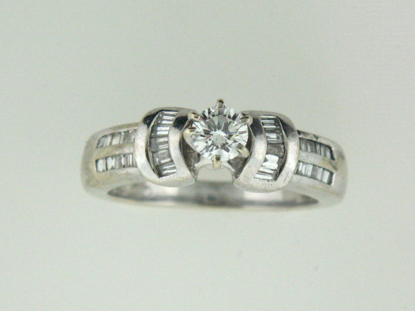 511 - 14kt White Gold Genuine Diamonds Engagement Ring - Columbia Jewelers, Fall River, Massachusetts, USA