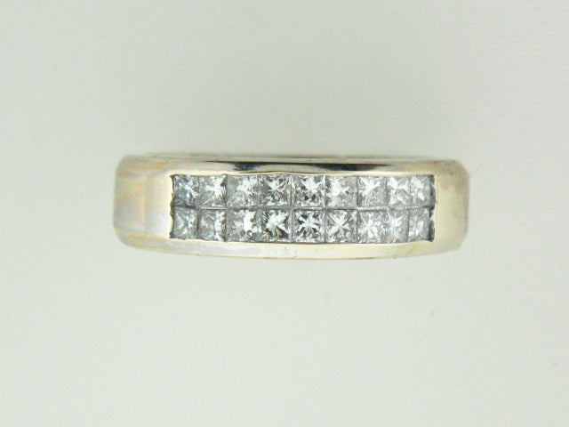 512 - 10kt Yellow Gold Genuine Princess Cut Diamonds Band - Columbia Jewelers, Fall River, Massachusetts, USA