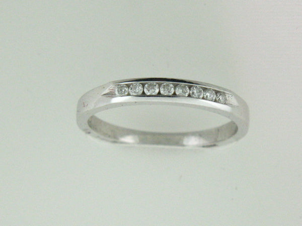 515 - 14k White Gold Genuine Diamonds Band - Columbia Jewelers, Fall River, Massachusetts, USA