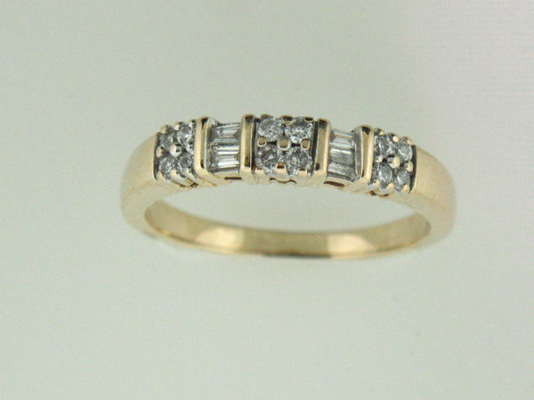 517 - 14kt Yellow Gold Genuine Diamonds Band - Columbia Jewelers, Fall River, Massachusetts, USA