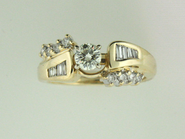 521 - 14kt Two Tones Gold Genuine Diamonds Ring - Columbia Jewelers, Fall River, Massachusetts, USA
