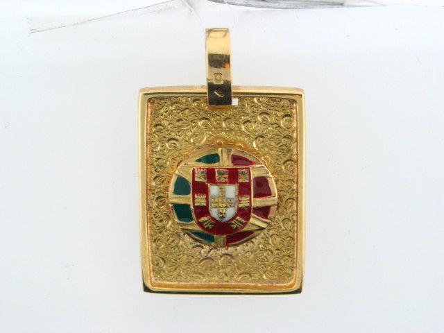 MED2349 - Portuguese Gold Escudo Medal - Columbia Jewelers, Fall River, Massachusetts, USA