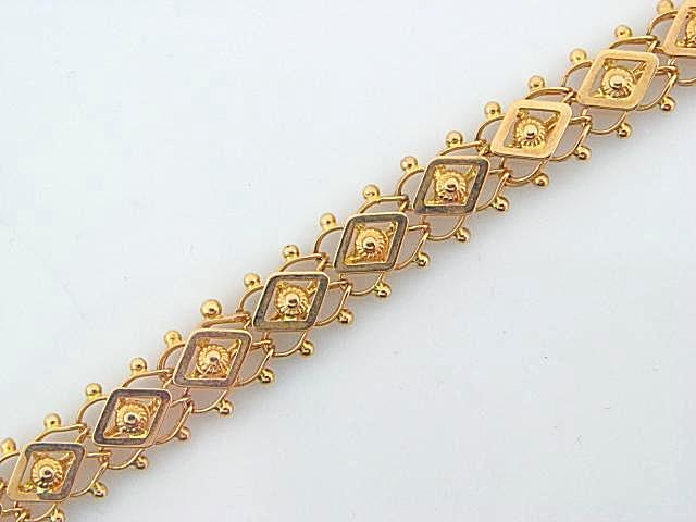 EXAGONOS- 19.2K Portuguese Gold Ladies Bracelet - Columbia Jewelers, Fall River, Massachusetts, USA