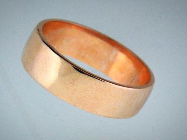 19.2kt Portuguese Gold Half Round Wedding Band (6.0mm Whidh)