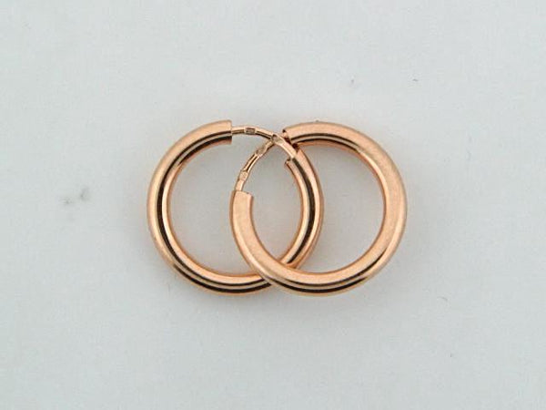 19.2k Gold Kids Plain Hoops Earrings (2mm thickness)