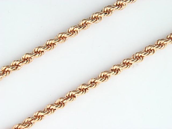 19.2kt Portuguese Gold Hollow Rope Chain (3.3mm thickness)