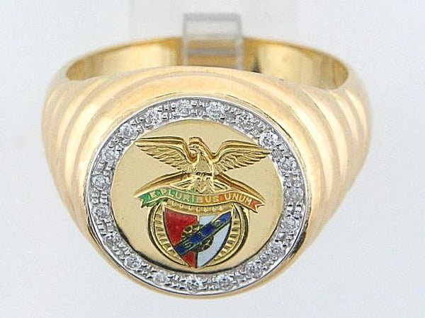 19.2k Portuguese Gold Sport Ring With Diamonds (Benfica)