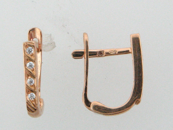 19.2k Portuguese Gold Kid's C.Z. Earrings