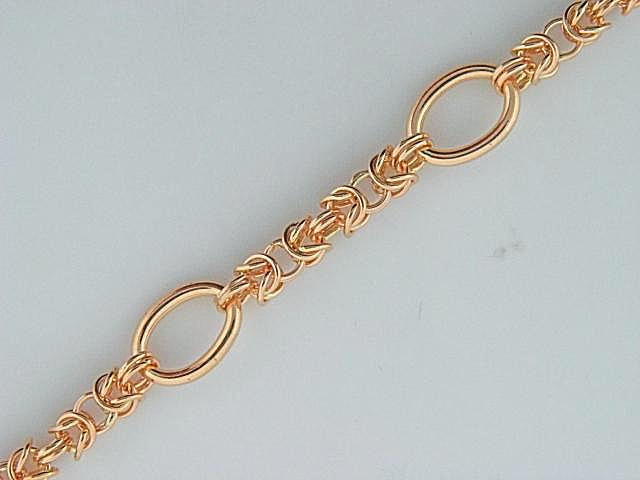 6303- 19.2k Portuguese Gold Virolinha/Oval Loops Ladies Bracelet - Columbia Jewelers, Fall River, Massachusetts, USA