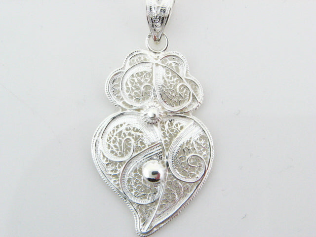 Sterling Silver Filigree Viana Heart Pendant
