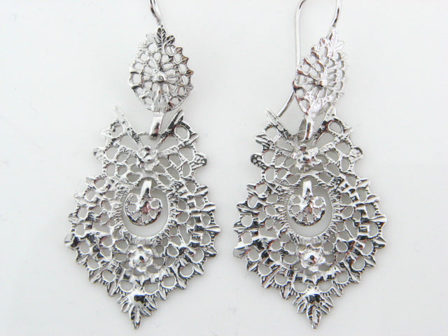 "Sterling Silver ""Queen"" Earrings"