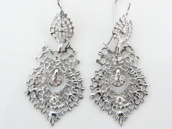 "BRQUEEN - Sterling Silver ""Queen"" Earrings - Columbia Jewelers, Fall River, Massachusetts, USA"