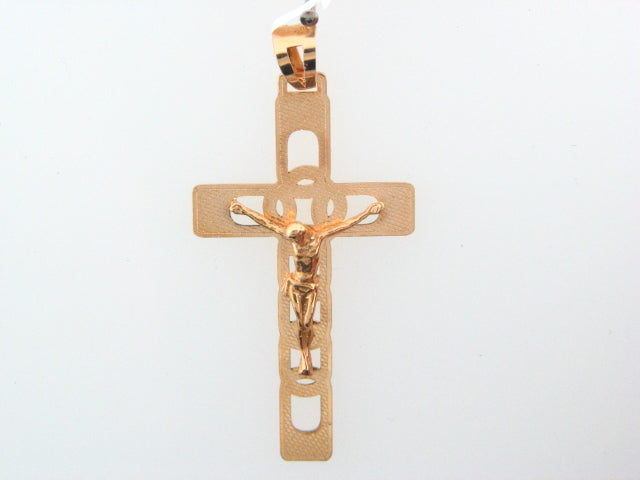 5858 - 19.2K Portuguese Gold Solid Crucifix