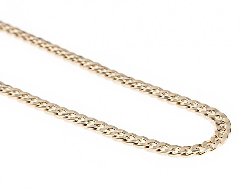 19.2kt Portuguese Gold Solid Curb Chain (1.7mm thickness)