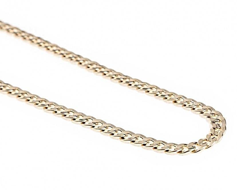 19.2kt Portuguese Gold Solid Curb Chain (2.2mm thickness)